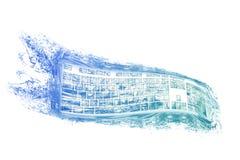 Teclado del agua Imagen de archivo