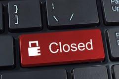 Teclado del botón cerrado con el candado del icono. Fotos de archivo libres de regalías