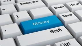 Teclado del concepto del dinero Foto de archivo