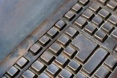 Teclado del metal Fotografía de archivo libre de regalías