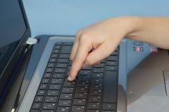 Teclado del ordenador portátil Foto de archivo