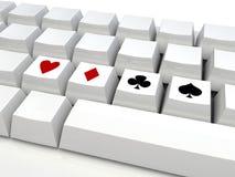 Teclado del póker Imagenes de archivo