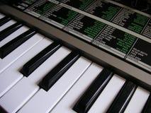 Teclado del sintetizador Fotografía de archivo