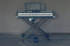Teclado del sintetizador Foto de archivo libre de regalías