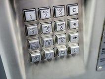 Teclado del teléfono Foto de archivo libre de regalías