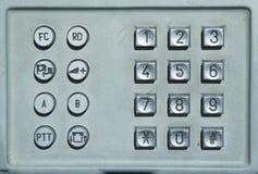 Teclado del teléfono público Imagen de archivo libre de regalías