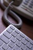 Teclado del teléfono y de ordenador fotos de archivo libres de regalías