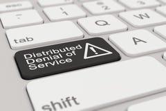Teclado - denegación de servicio distribuida - negro Fotos de archivo libres de regalías