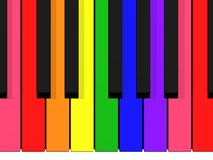Teclado do arco-íris Fotografia de Stock Royalty Free