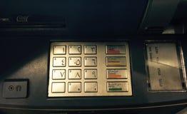 Teclado do ATM Fotografia de Stock Royalty Free