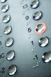 Teclado do elevador Foto de Stock Royalty Free