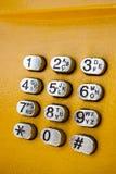 Teclado do metal com números. Fotografia de Stock Royalty Free