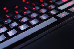 Teclado do PC da opinião preta do close up da cor imagens de stock royalty free