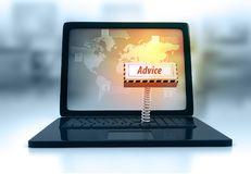 Teclado do portátil com conselho chave Fotos de Stock Royalty Free