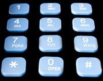 Teclado do telefone Fotografia de Stock Royalty Free
