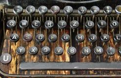 Teclado do vintage da máquina da escrita Imagem de Stock