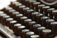 Teclado do vintage da máquina de escrever Foto de Stock Royalty Free