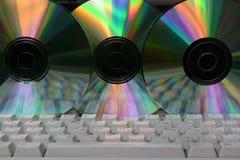 Teclado e CD de computador Imagens de Stock Royalty Free