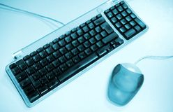 Teclado e rato. fotografia de stock