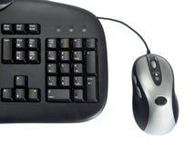 Teclado e rato Imagens de Stock