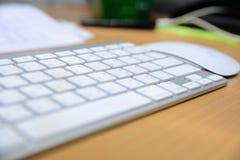Teclado e rato sem fio Imagem de Stock