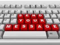 Teclado. Envíe su mensaje Fotos de archivo