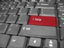 Teclado especial de la computadora portátil de la ayuda Imagen de archivo libre de regalías
