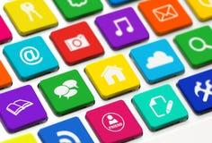 Teclado moderno con los botones coloreados Foto de archivo