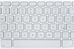 Teclado moderno de la computadora portátil Fotos de archivo libres de regalías