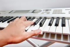 Teclado musical fotografia de stock