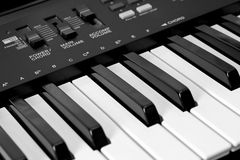 Teclado musical Foto de archivo libre de regalías