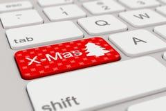 Teclado - Navidad - rojo Imagen de archivo