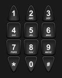 Teclado negro del teléfono Fotografía de archivo libre de regalías