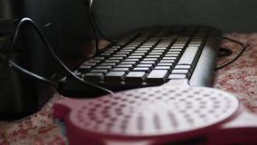 Teclado negro para el trabajo del ordenador imagen de archivo libre de regalías