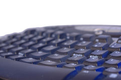 Teclado no branco isolado com espaço do texto Fotografia de Stock