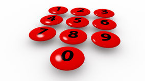Teclado numérico Fotografia de Stock