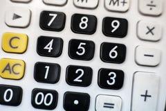 Teclado numérico de la calculadora Imagenes de archivo