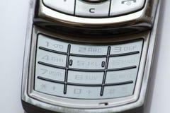 Teclado numérico del teléfono celular fotografía de archivo libre de regalías