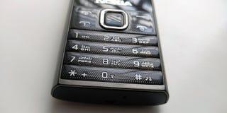 teclado numérico do telefone do Carbono-estilo fotos de stock