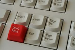 Teclado - pánico Fotografía de archivo
