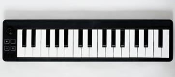 Teclado pequeno de MIDI Imagem de Stock Royalty Free