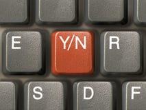 Teclado (primer) con el clave de Y/N - opción Imágenes de archivo libres de regalías