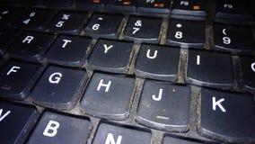 teclado que es sucio con polvo imagenes de archivo