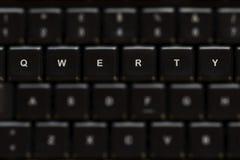 Teclado Qwerty Imagen de archivo libre de regalías