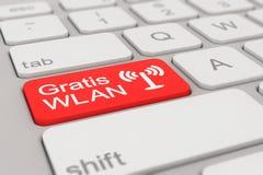 Teclado - red inalámbrica (WLAN) gratuita - rojo Fotos de archivo