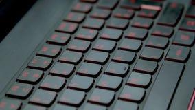 Teclado rojo del juego Cambie en intensidad de luz