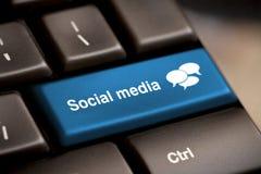 Teclado social dos media Foto de Stock Royalty Free
