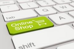 Teclado - tienda en línea - verde Foto de archivo