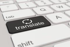 Teclado - traduzca - negro Imagen de archivo libre de regalías