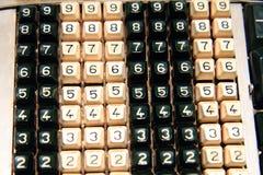 teclado velho da calculadora Fotografia de Stock Royalty Free
